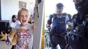 Menino liga para a polícia vir em seu aniversário com tema policial