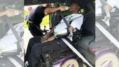 Mulher e marido tetraplégico ficam presos no trânsito e recebem ajuda inesperada