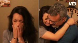 Filha conhece pai biológico pela primeira vez depois de 31 anos