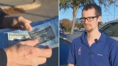 Policial coloca nota de 100 dólares dentro de multa de trânsito e emociona motorista