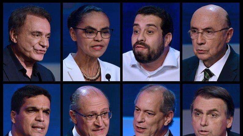 Presidenciáveis prometem emprego e relegam corrupção no primeiro debate na TV