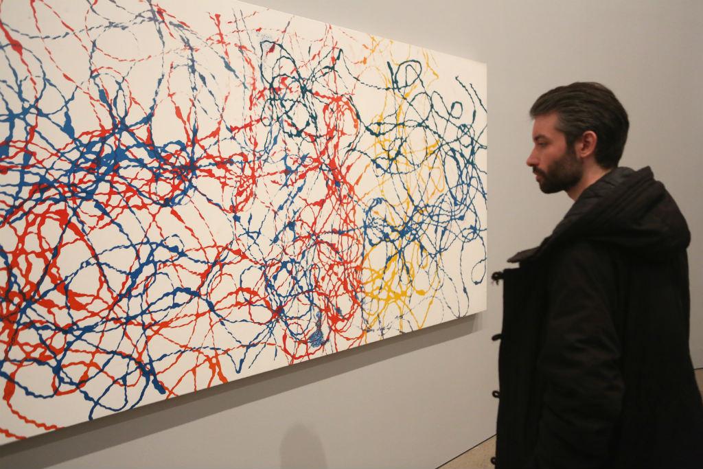 """Mural de Jackson Pollock """"A energia se faz visível"""" (Adam Berry/Getty Images)"""