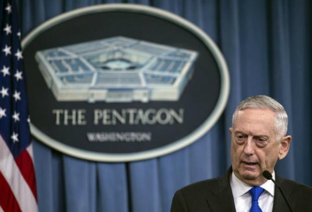 Secretário de Defesa dos EUA, Jim Mattis, no Pentágono em 28 de agosto de 2018 (Nicholas Kamm/AFP/Getty Images)