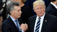 Trump manifesta total apoio a governo argentino:
