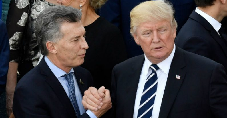 "Trump manifesta total apoio a governo argentino: ""Confio na liderança do presidente Macri"", afirmou"