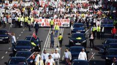 Motoristas de aplicativos protestam em Madri contra regulamentação do setor