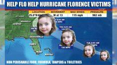 Menina de 4 anos cria caridade para ajudar pessoas afetadas pelo furacão Florence