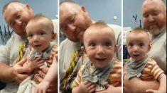 Bebê tem a reação adorável ao ouvir sons pela primeira vez