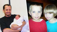 Pai se reune com suas duas crianças desaparecidas após três anos
