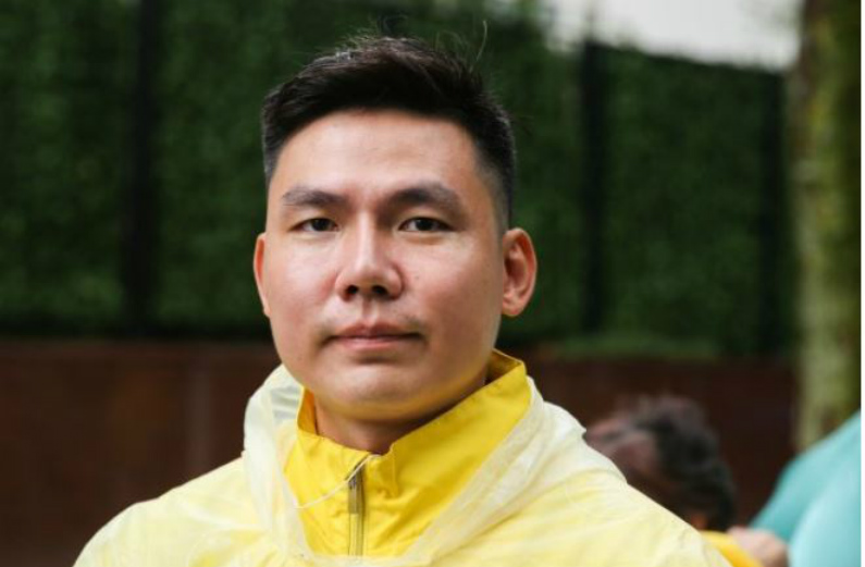 He Yingsheng participa de um evento contra a perseguição ao Falun Dafa na Assembleia das Nações Unidas em Nova Iorque, em 25 de setembro de 2018 (Samira Bouaou/Epoch Times)