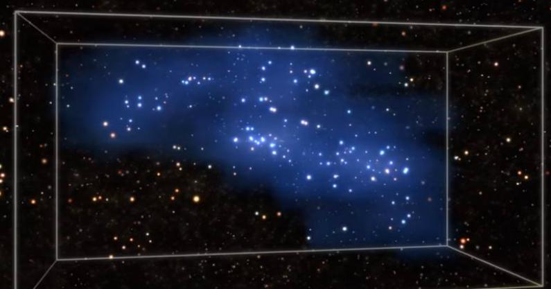 Supercumulus Hyperión (ESO/Captura de tela)
