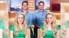 Gêmeas idênticas sonhavam em se casar com gêmeos idênticos e desejo se tornou realidade