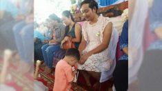 Pai tailandês usa vestido no Dia das Mães para garantir que filhos não se sintam excluídos