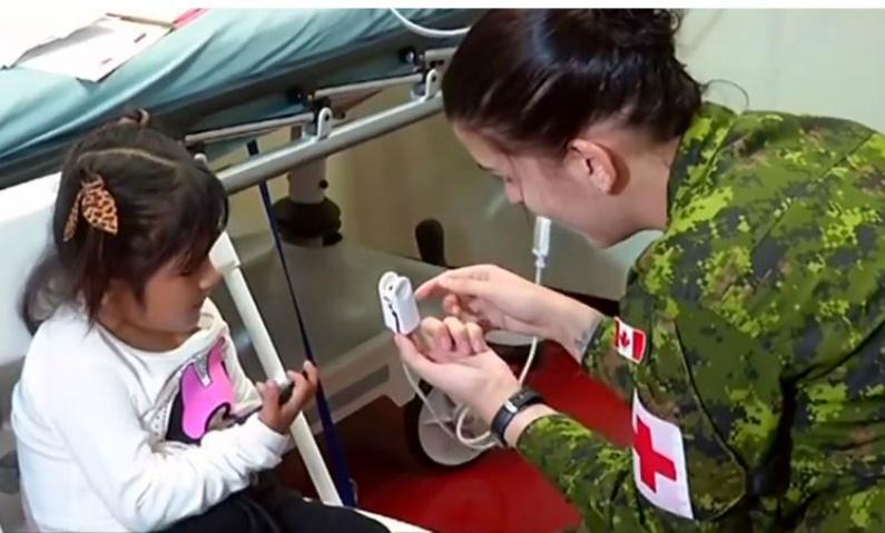 Atendimento médico a bordo do navio US Comfort em Paita, Peru (Reuters)
