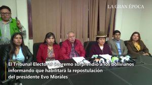 Tribunal eleitoral da Bolívia habilita Evo Morales à reeleição apesar de referendo e da constituição (Vídeo)