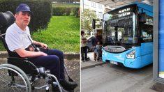 Motorista de ônibus surpreende os passageiros depois deles não darem espaço para o usuário de cadeira de rodas