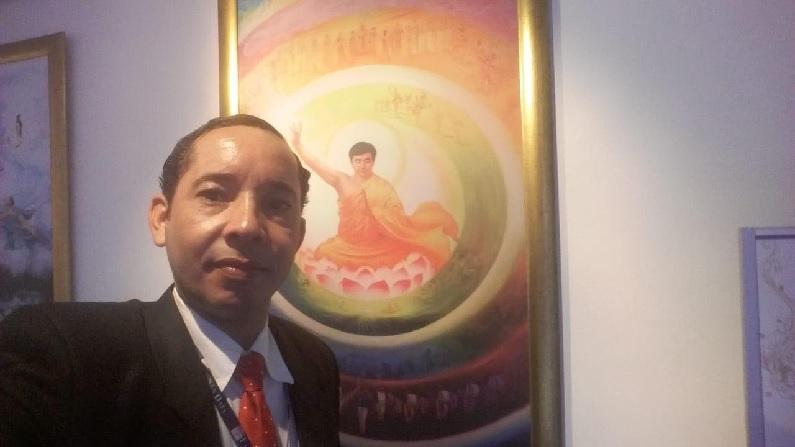 Miguel Campos, organizador da exposição de (arte Verdade, Compaixão e Tolerância na galeria de arte Pierre Verger, me Salvador, no dia 17 de dezembro de 2018 (Miguel Campos)