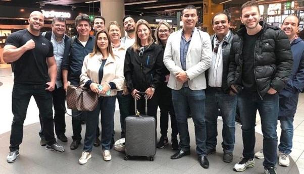Congressistas do PSL em viagem à China na no dia 15 de janeiro de 2018 (Reprodução/Facebook)