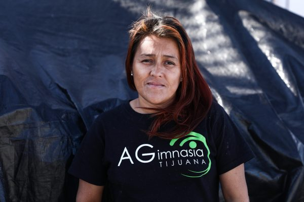 Karen Aviles no novo acampamento de migrantes a 16 quilômetros da fronteira dos EUA em Tijuana, México, em 2 de dezembro de 2018 (Charlotte Cuthbertson/Epoch Times)
