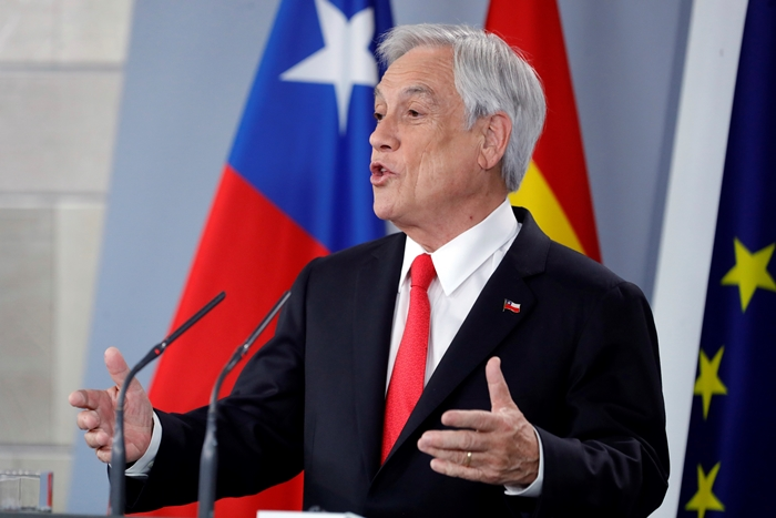 """Presidente do Chile, Sebastián Piñera, expressa seu """"apoio irrestrito"""" à Assembleia Nacional Venezuelana (Arquivo Agência EFE)"""