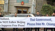 Protesto na Embaixada tailandesa pede libertação de ativista da rádio Sound of Hope