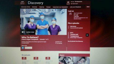 Programa da BBC discute transplantes de órgãos na China