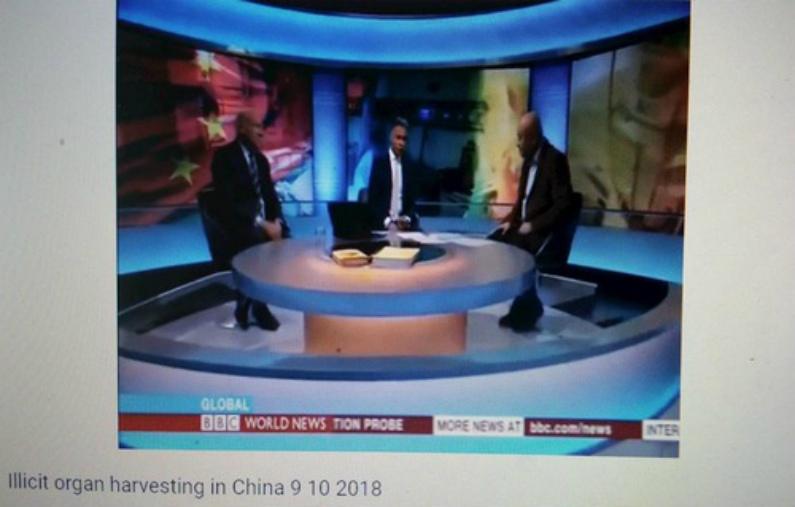 """BBC Global transmite """"Transplantes de órgãos na China"""". O moderador entrevistou Ethan Gutmann e Enver Tohti"""