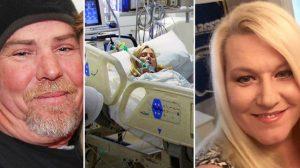 Prestes a ser desligada do suporte vital, o marido sussurra algo em seu ouvido e ela acorda do coma