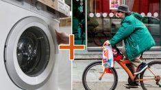 Inovadora bicicleta ergométrica que lava roupas é inventada na China