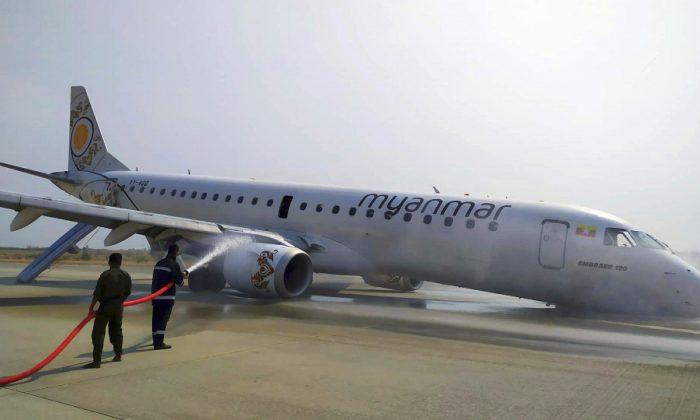 Piloto de Mianmar pousa com segurança após falha do trem de pouso (vídeo)