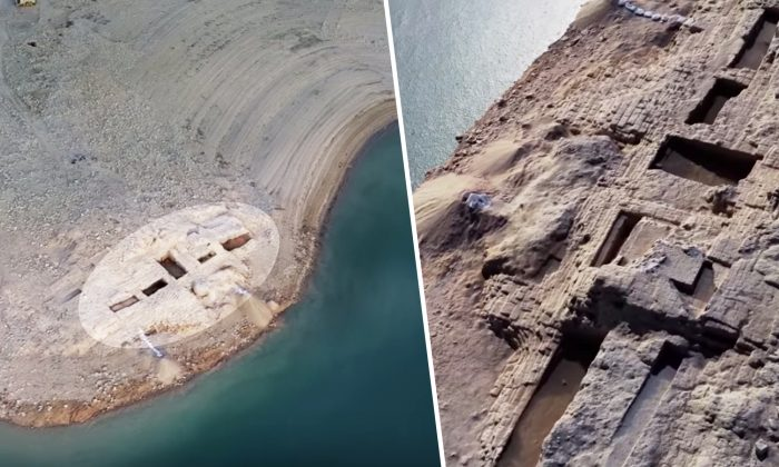 Incrível palácio de 3.400 anos no Iraque emerge após nível de água de reservatório recuar diante da seca