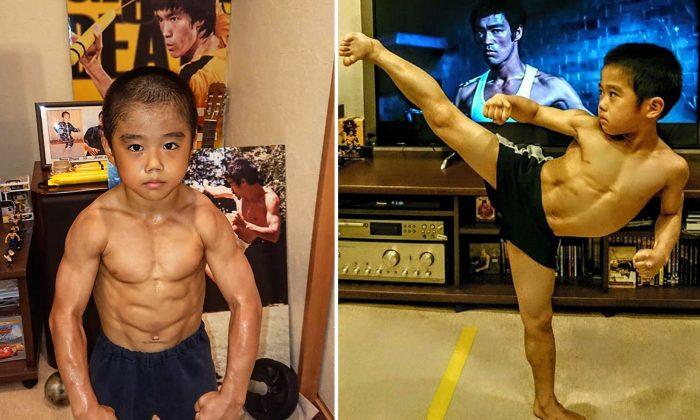 """Seria este garoto a encarnação de Bruce Lee? Seus seguidores on-line chamam-no de """"Mini Lee"""""""