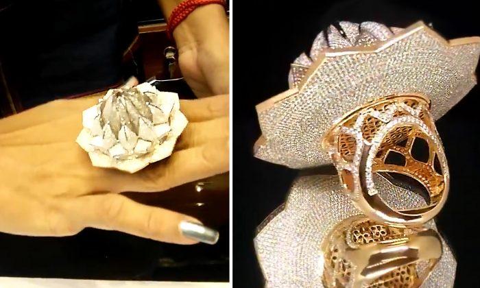 Joalheiro cria anel com mais de 7.000 diamantes no valor de 4,9 milhões, estabelecendo novo recorde mundial no Guinness