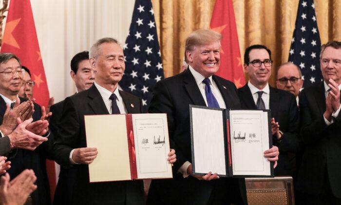 EUA e China assinam primeira fase do acordo comercial acalmando tensões comerciais