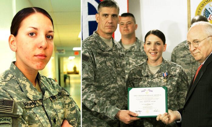 Médica do Exército que enfrentou tiroteio para salvar cinco homens em veículo em chamas ganha estrela de prata