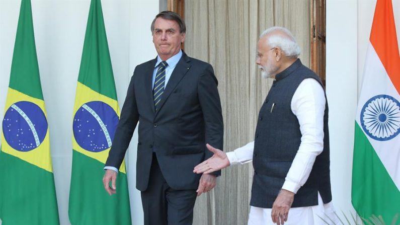 Bolsonaro destaca acordos firmados durante visita à Índia
