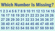 A maioria das pessoas não consegue encontrar o número ausente nessas seqüências em menos de 10 segundos, você consegue?