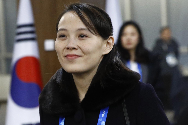 Kim Yo Jong, irmã do líder norte-coreano Kim Jong Un, chega à cerimônia de abertura dos Jogos Olímpicos de Inverno de PyeongChang 2018 no Estádio Olímpico de PyeongChang, em PYEONGCHANG-GUN, COREIA DO SUL 9 de fevereiro de 2018 em Pyeongchang-gun, Coreia do Sul (Patrick Semansky - Pool / Getty Images)