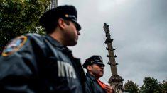 Estátua de Colombo em Nova Iorque ganha reforço de segurança por protestos