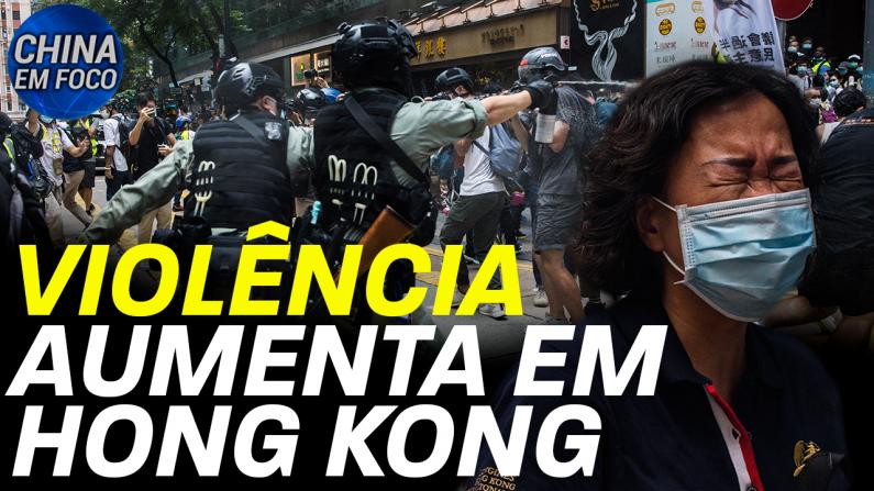 Violência aumenta em Hong Kong
