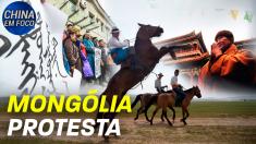Mongólia protesta
