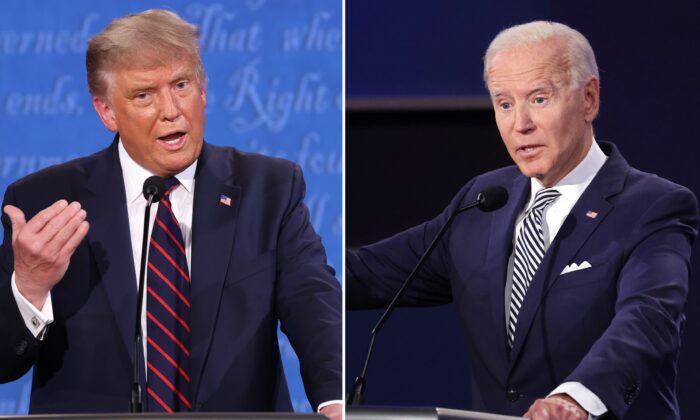 """Trump diz que recuperação econômica está em forma de """"V"""", Biden diz que está em """"K"""""""