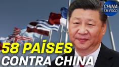 58 países contra China