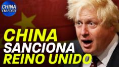 Pequim está estendendo suas sanções a cidadãos britânicos.