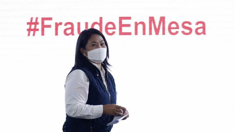 Keiko Fujimori denuncia suposta 'fraude sistemática' nas eleições no Peru