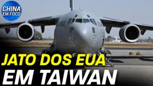 Um imenso jato militar americano aterrissou em Taiwan no final de semana