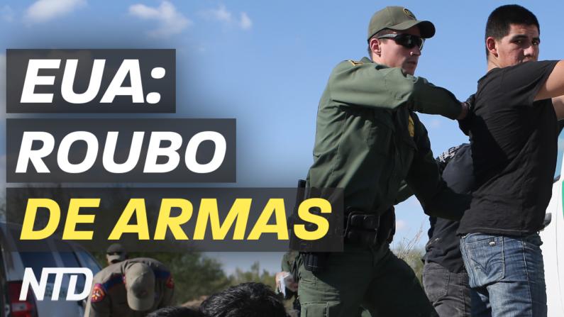 Um grupo de imigrantes ilegais invadiu uma casa de campo perto da fronteira americana com o México, roubando armas de fogo e munição