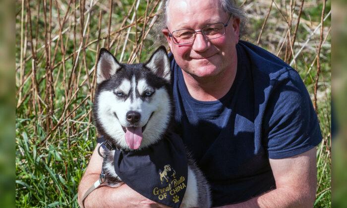 Um casal resgata Husky Siberiano do comércio de carne chinesa