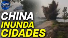 Autoridades chinesas explodem uma barragem, inundando várias aldeias para proteger áreas mais ricas