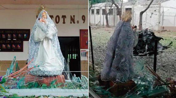 Nossa Senhora intacta após explosão de carro-bomba